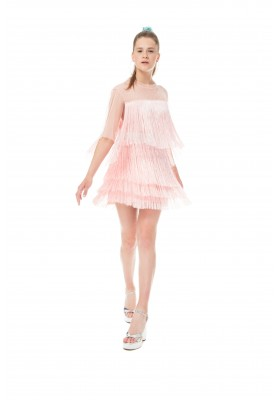"T-DRESS ""VERTICAL FRINGE"""