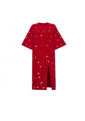 "PRE-ORDER - MIDI T-DRESS ""STARS SPLASH"" WITH CUTOUT"