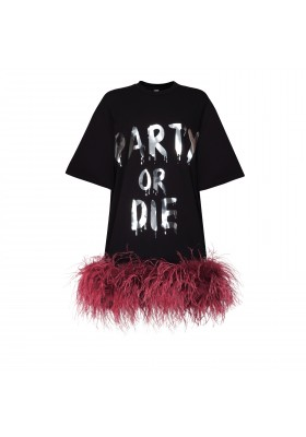 "ПРЕДЗАКАЗ - T-DRESS ""PARTY OR DIE"" WITH BOA"