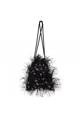 BAG WITH FEATHER AND STONES