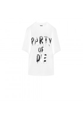 """OVERSIZE T-DRESS """"PARTY OR DIE"""""""