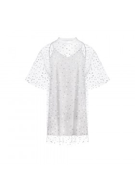 "OVERSIZE T-DRESS ""STONES SPLASH"""