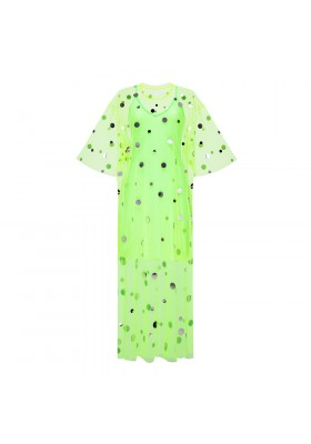 "T-SHIRT DRESS ""MIRROR SPLASH "" NEON LIME"