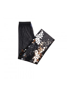 "PANTS ""GOLD AND SILVER MIRROR SPLASH"" FROM NET"