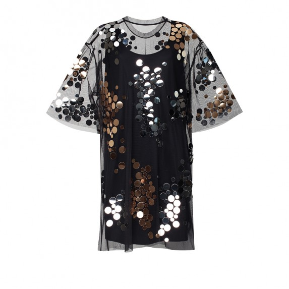 "T-SHIRT DRESS ""MIRROR SPLASH """